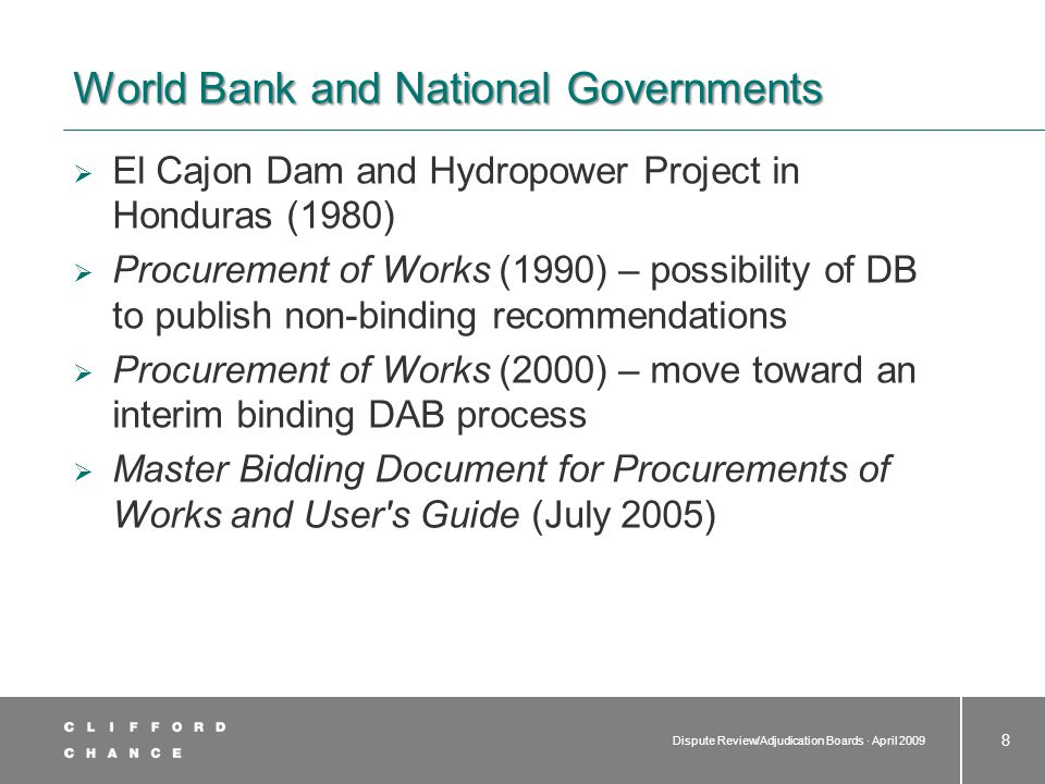 World Bank and National Governments