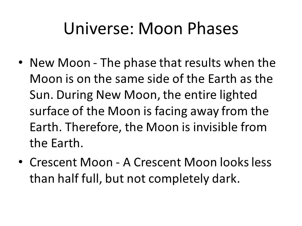 Universe: Moon Phases