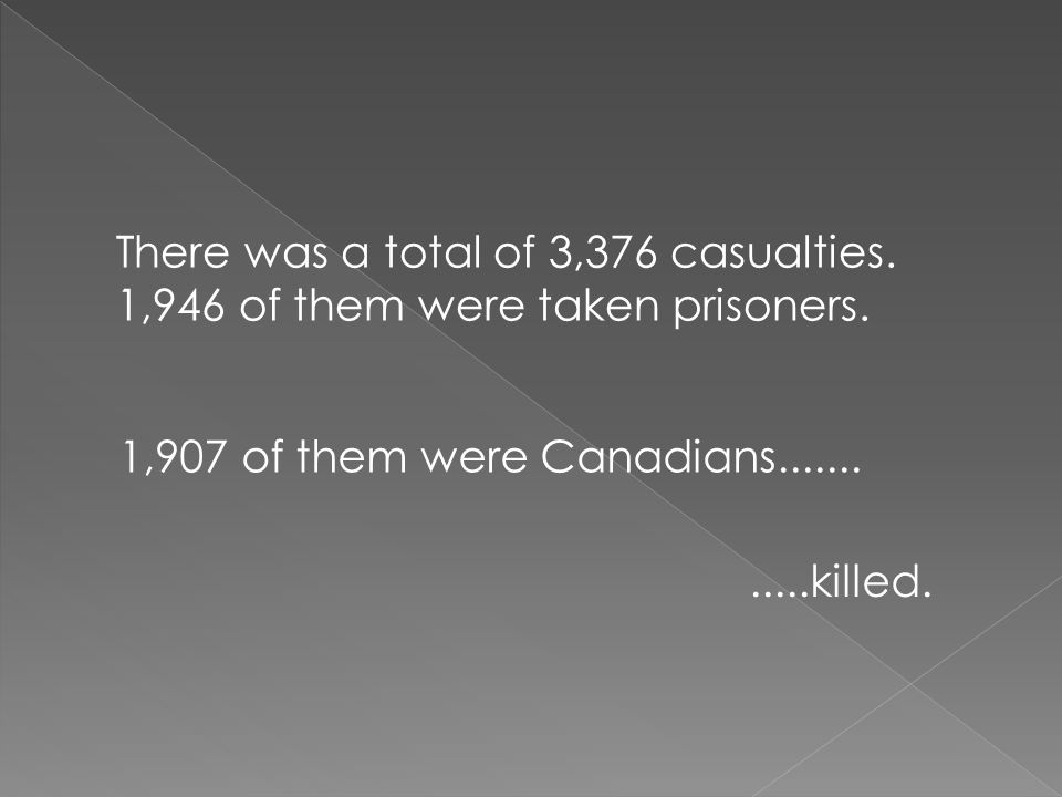 There was a total of 3,376 casualties