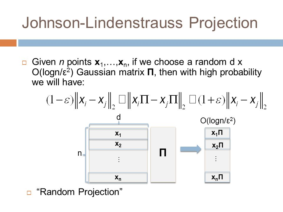 Johnson-Lindenstrauss Projection