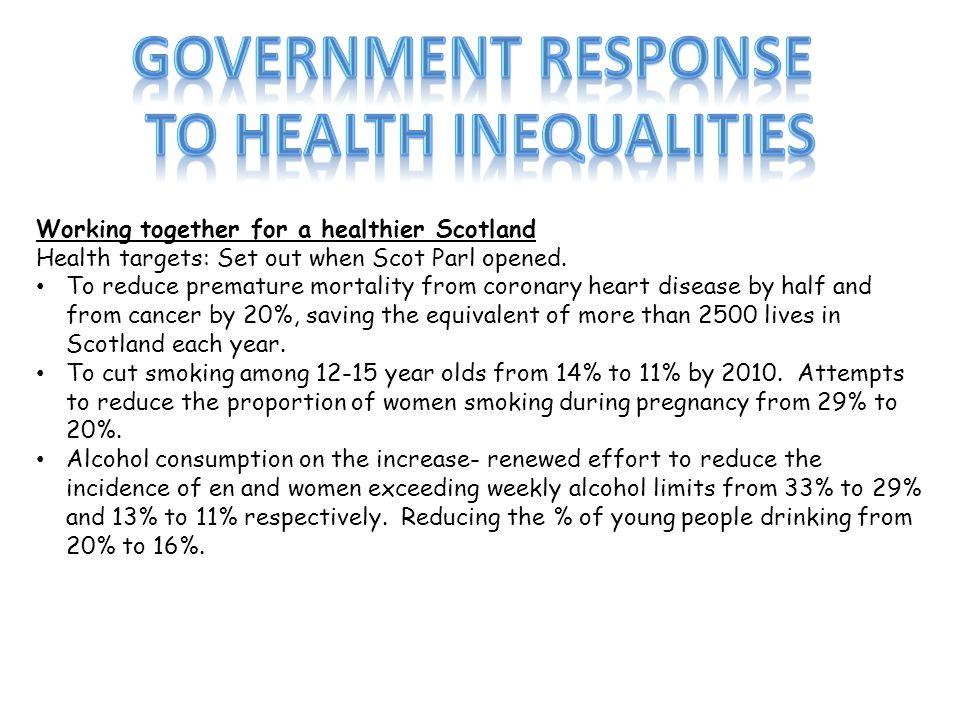 To health inequalities
