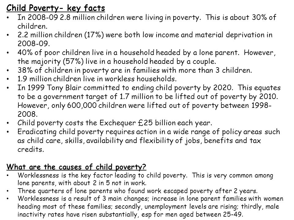 Child Poverty- key facts
