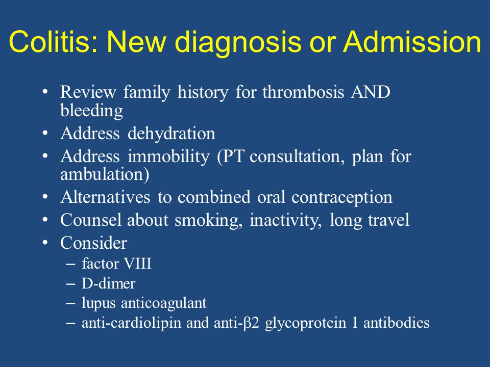Colitis: New diagnosis or Admission