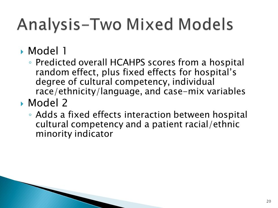 Analysis-Two Mixed Models