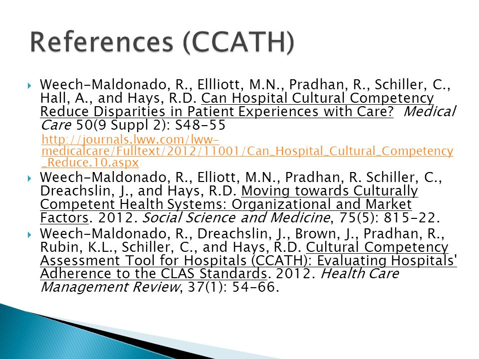 References (CCATH)