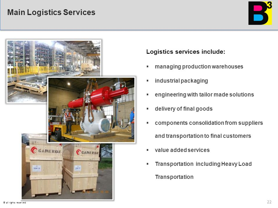 Main Logistics Services