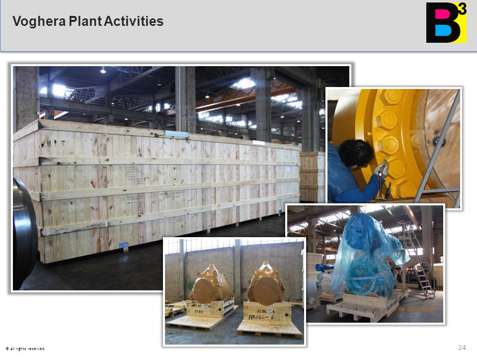 Voghera Plant Activities