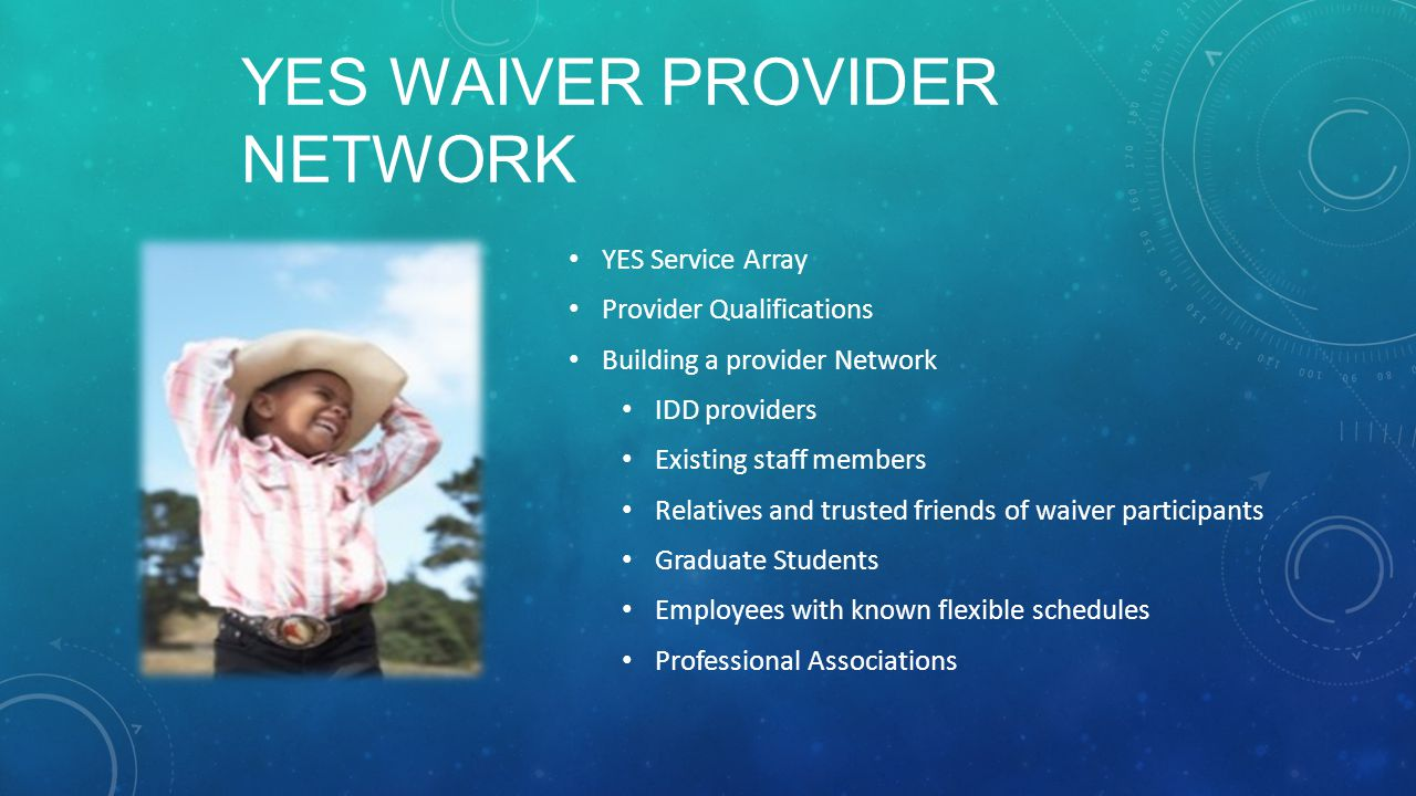 Yes Waiver Provider Network