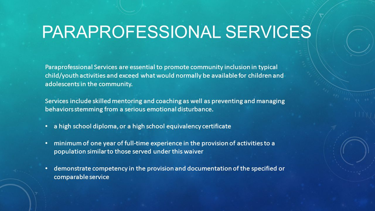 Paraprofessional Services