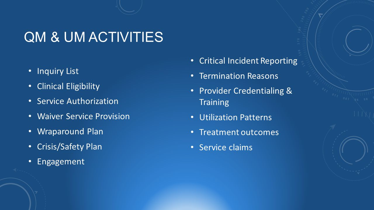 QM & UM Activities Critical Incident Reporting Inquiry List
