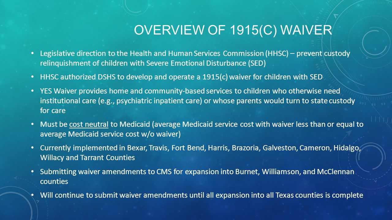 Overview of 1915(c) Waiver