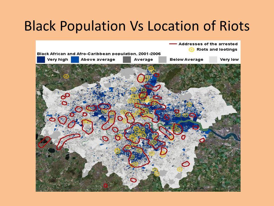 Black Population Vs Location of Riots