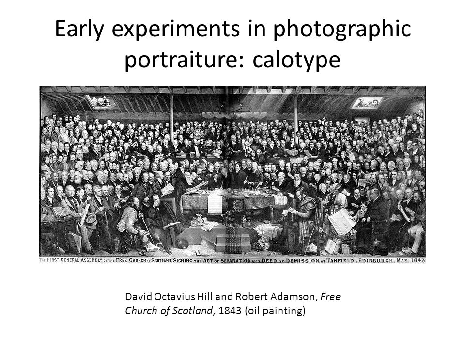 Early experiments in photographic portraiture: calotype