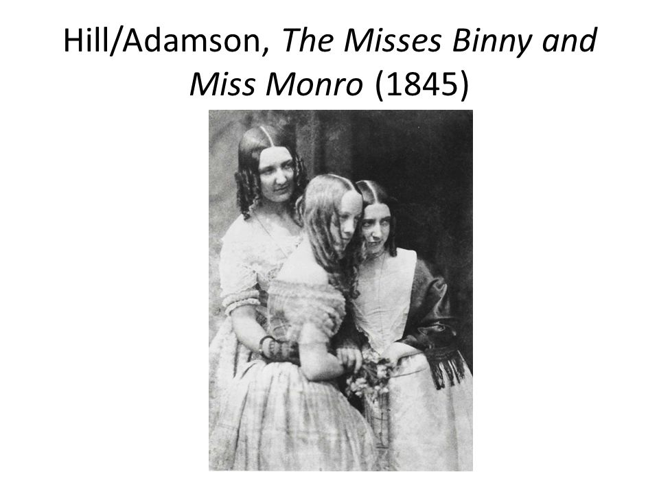 Hill/Adamson, The Misses Binny and Miss Monro (1845)