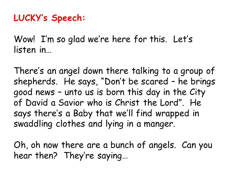 LUCKY's Speech: Wow! I'm so glad we're here for this. Let's listen in…
