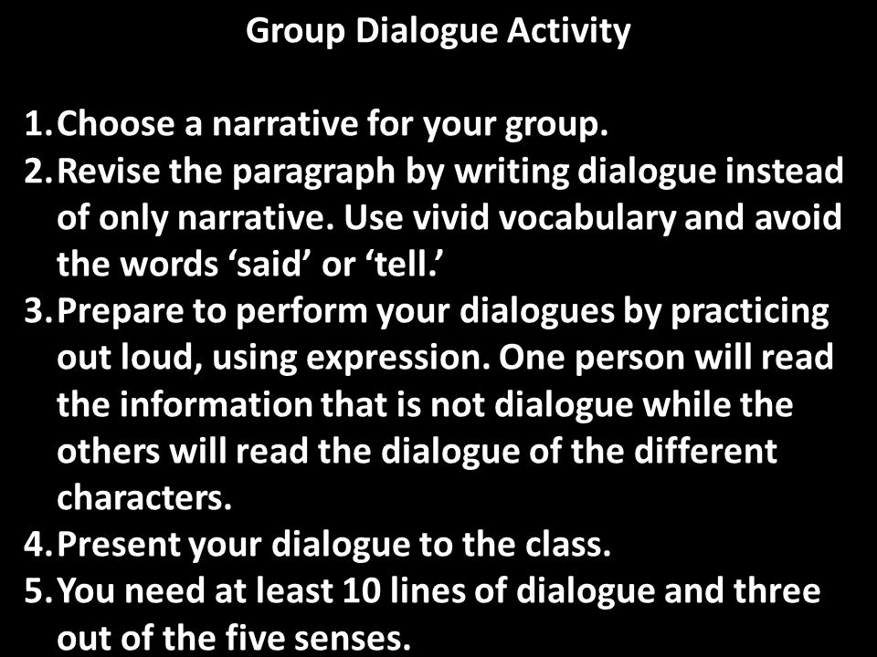 Group Dialogue Activity