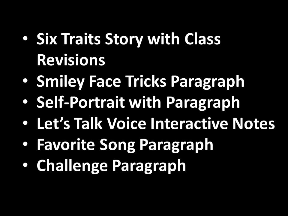 Six Traits Story with Class Revisions
