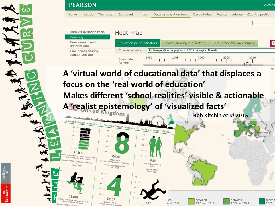 A 'virtual world of educational data' that displaces a focus on the 'real world of education'