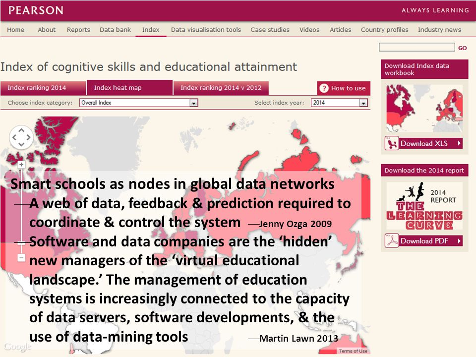 Smart schools as nodes in global data networks