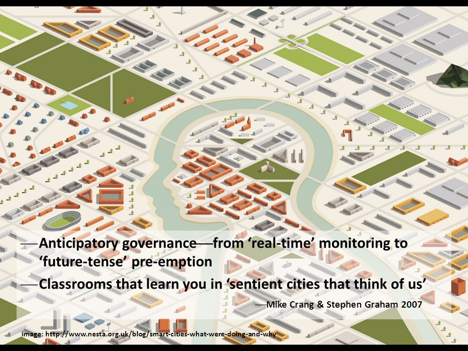 Anticipatory governancefrom 'real-time' monitoring to 'future-tense' pre-emption