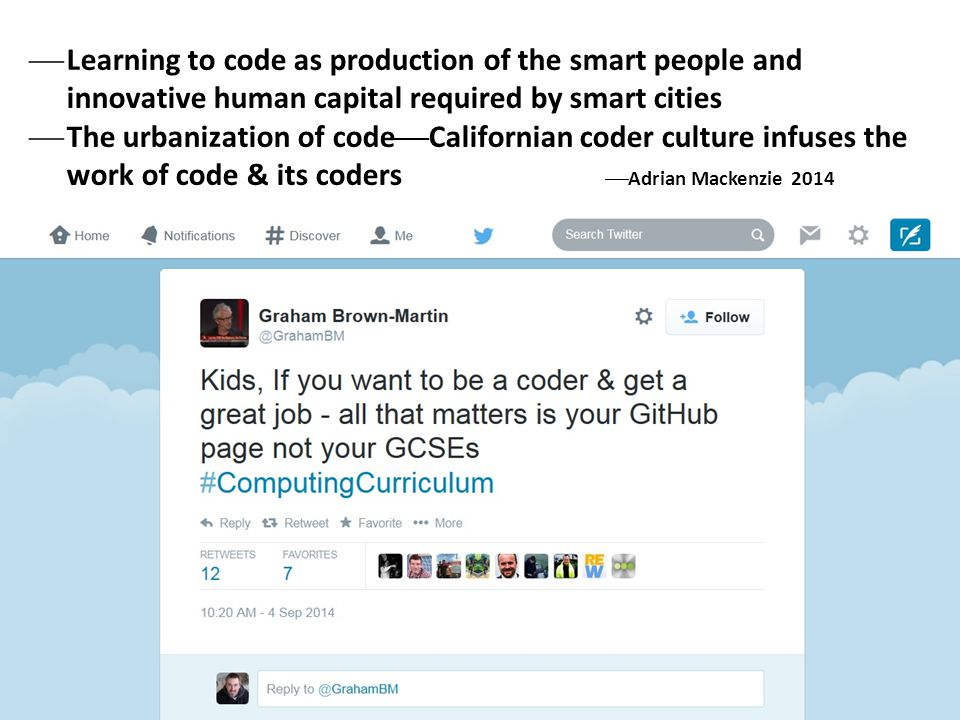 Learning to code as production of the smart people and innovative human capital required by smart cities