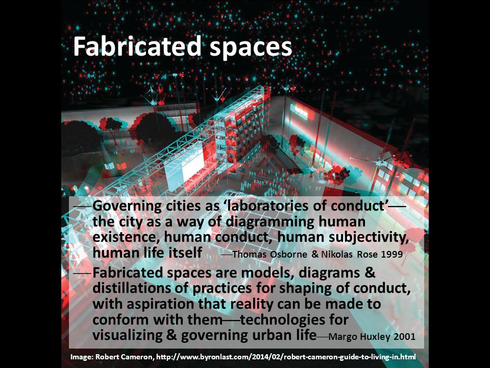Fabricated spaces