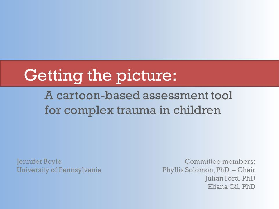 A cartoon-based assessment tool for complex trauma in children