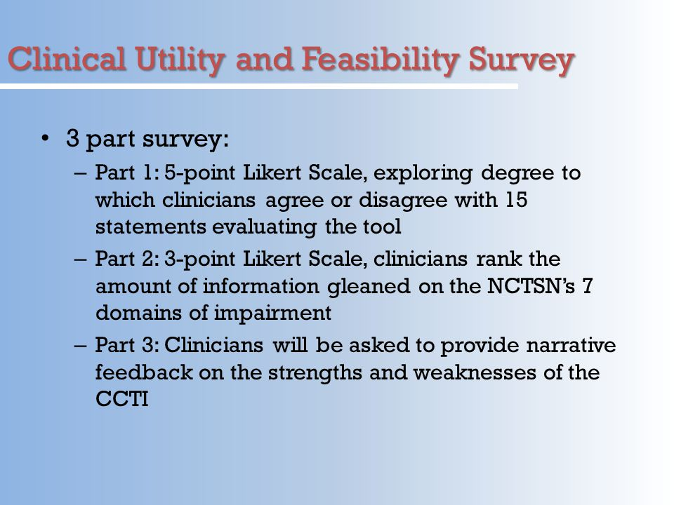 Clinical Utility and Feasibility Survey