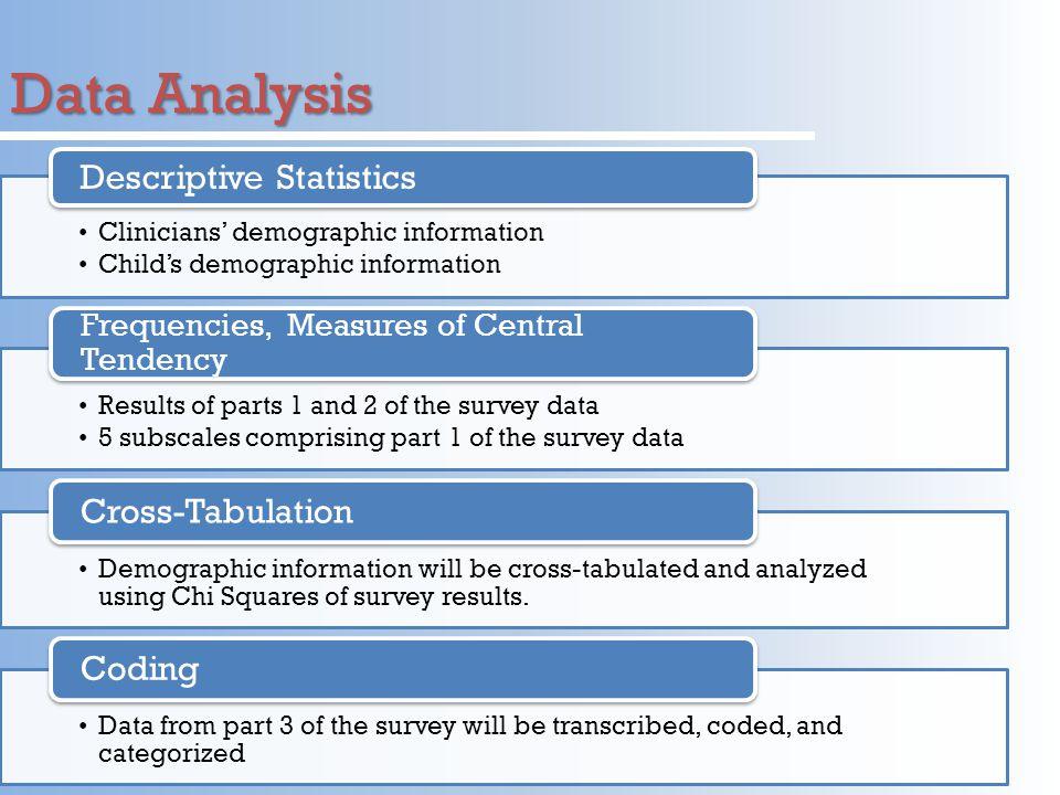 Data Analysis Descriptive Statistics Cross-Tabulation Coding