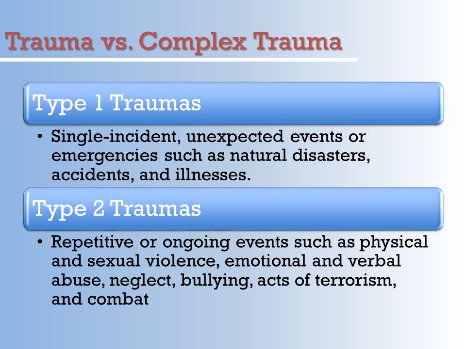 Trauma vs. Complex Trauma
