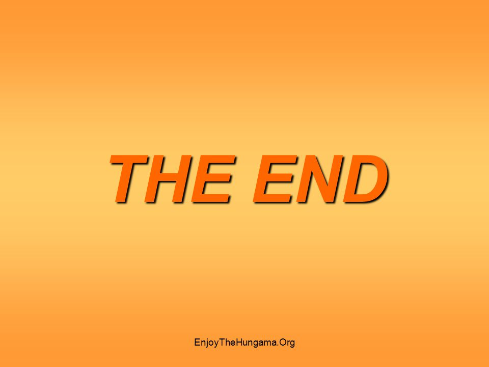 THE END EnjoyTheHungama.Org