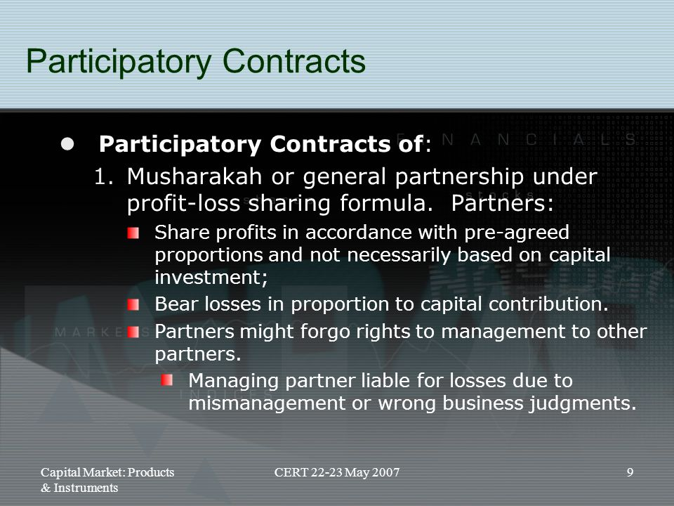 Participatory Contracts