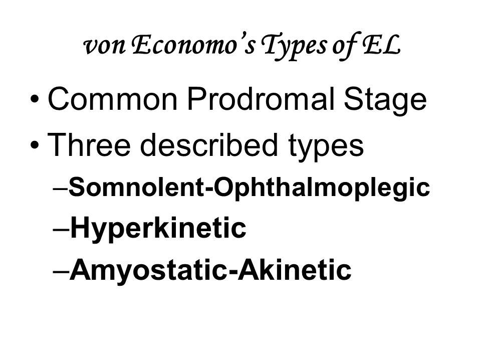 von Economo's Types of EL