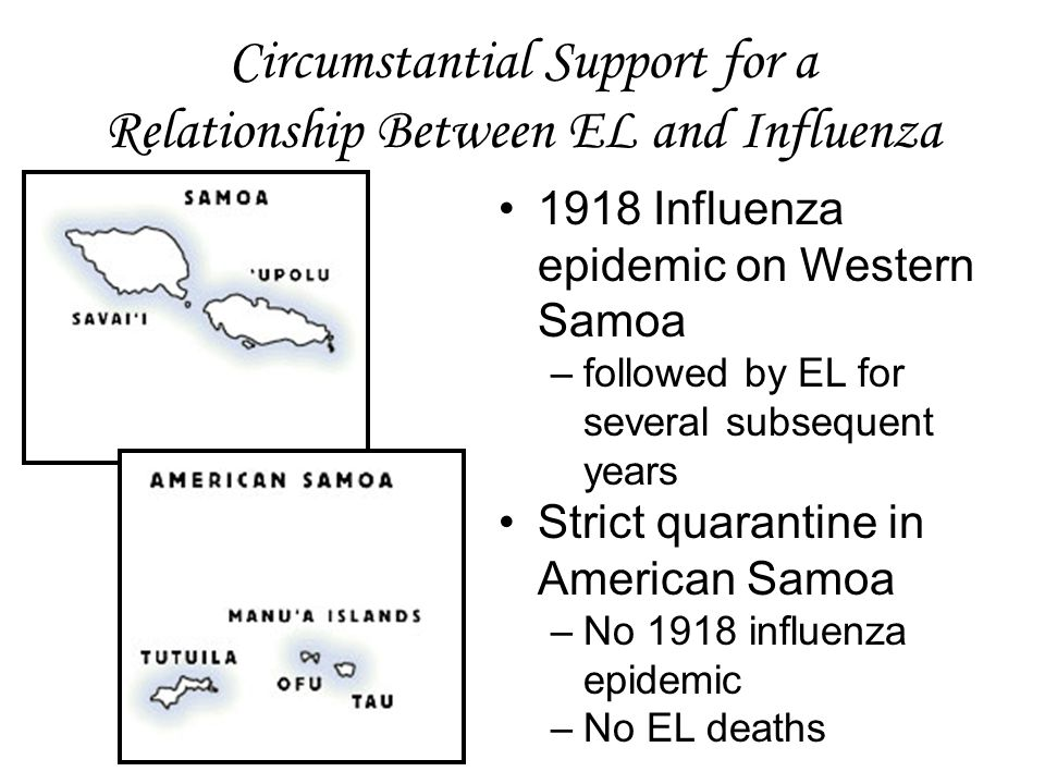 Circumstantial Support for a Relationship Between EL and Influenza