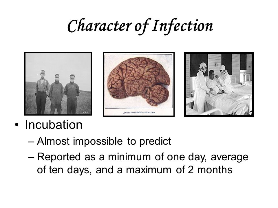 Character of Infection