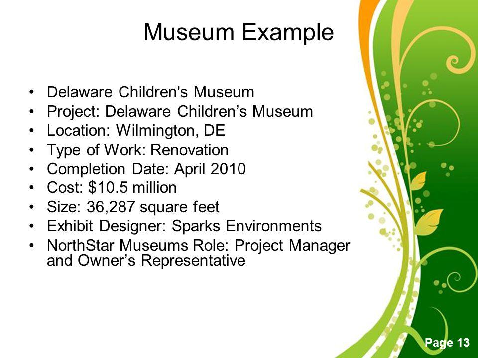 Museum Example Delaware Children s Museum