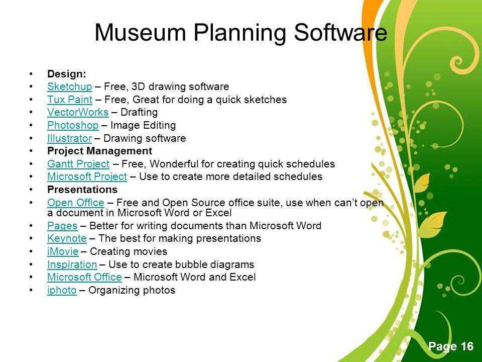 Museum Planning Software