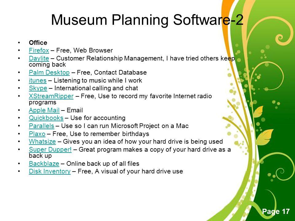 Museum Planning Software-2