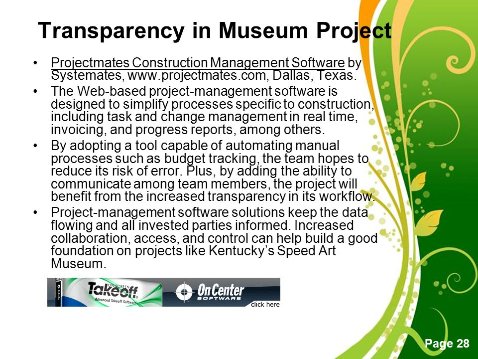 Transparency in Museum Project