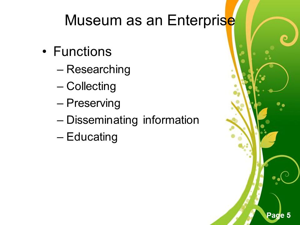 Museum as an Enterprise