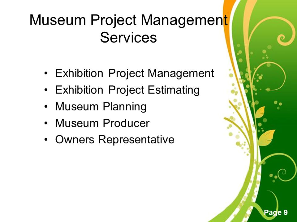 Museum Project Management Services