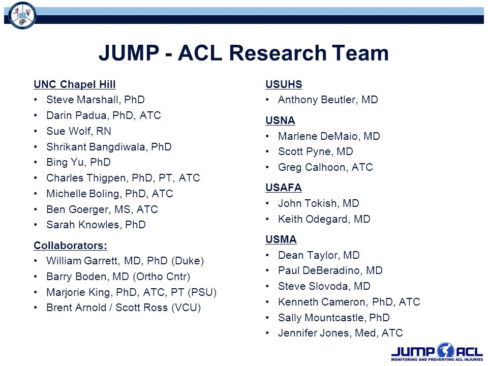JUMP - ACL Research Team