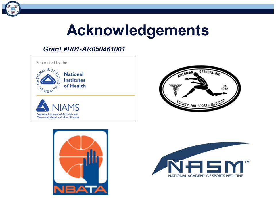 Acknowledgements Grant #R01-AR050461001