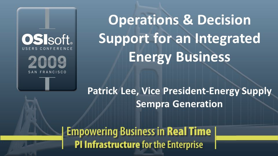 Operations & Decision Support for an Integrated Energy Business