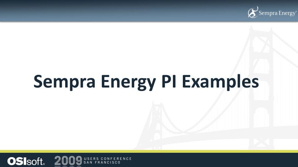 Sempra Energy PI Examples