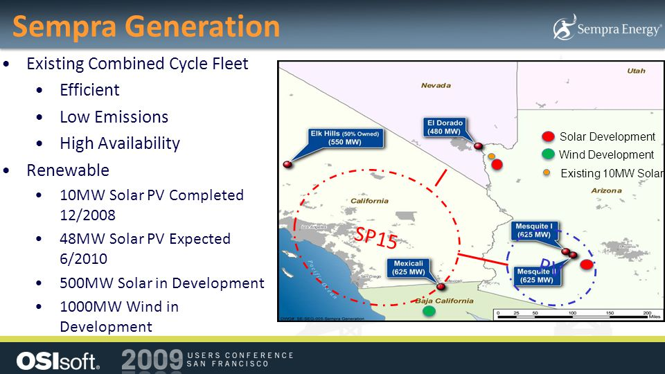 Sempra Generation SP15 PV Existing Combined Cycle Fleet Efficient