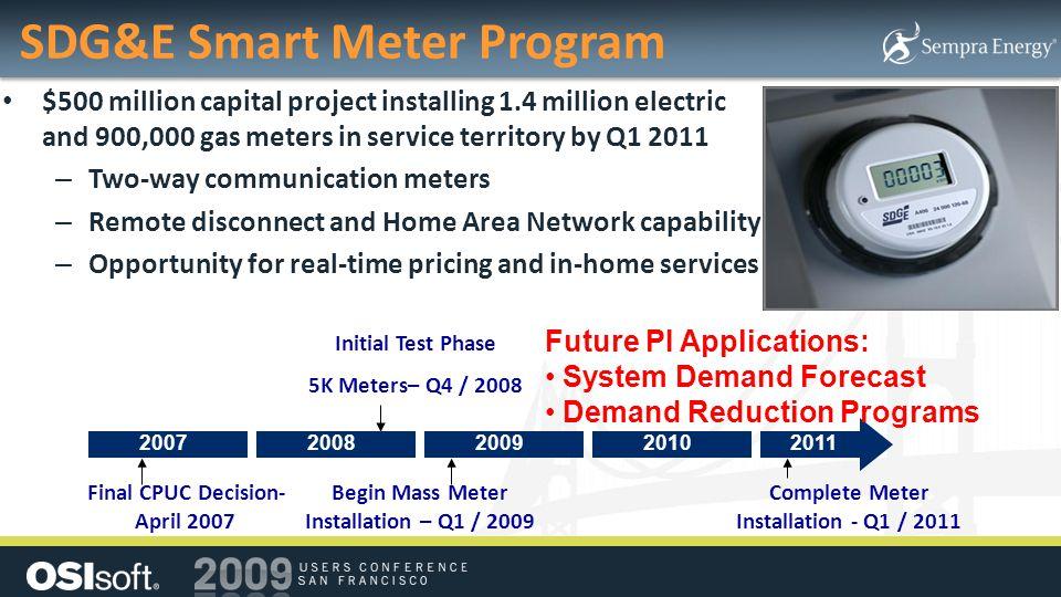 SDG&E Smart Meter Program