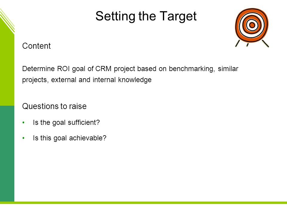Setting the Target Content Questions to raise