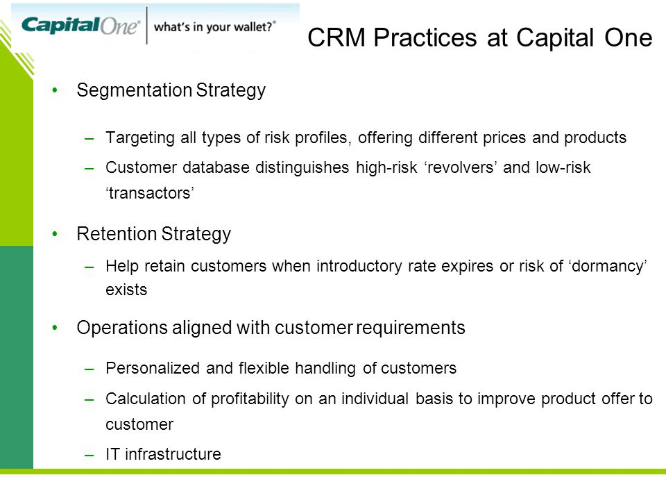 CRM Practices at Capital One