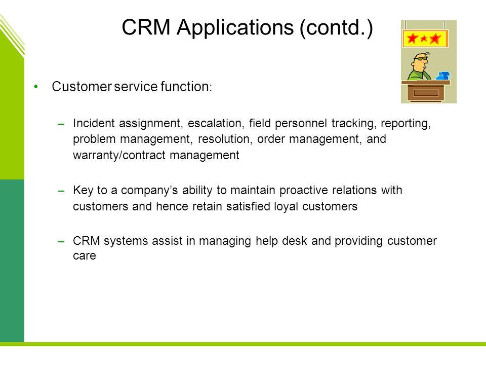 CRM Applications (contd.)